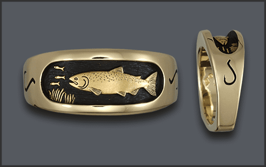 Men's 14k Chinook Hybrid Ring with Hook on Sides