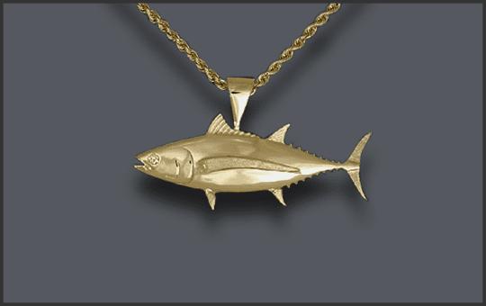 Men's Albacore Tuna Pendant With Diamond Eye