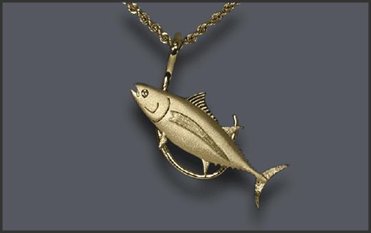 Men's Albacore Tuna Pendant With Hook