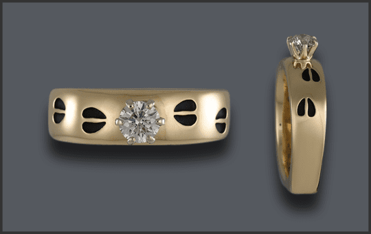 Women's .30ct Diamond Solitaire Track Ring