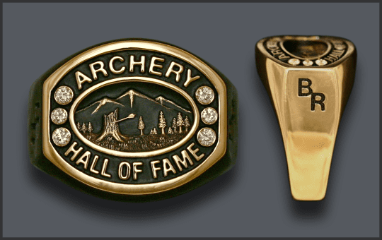 Men's Archery Hall Of Fame Ring